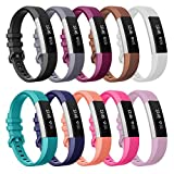 Fitbit Alta HR Bands Large 10 Color, Henoda Soft Silicone Replacement Wristband Accessories with Secure Metal Buckle Clasp for Fitbit Alta HR Sport Smart Watch