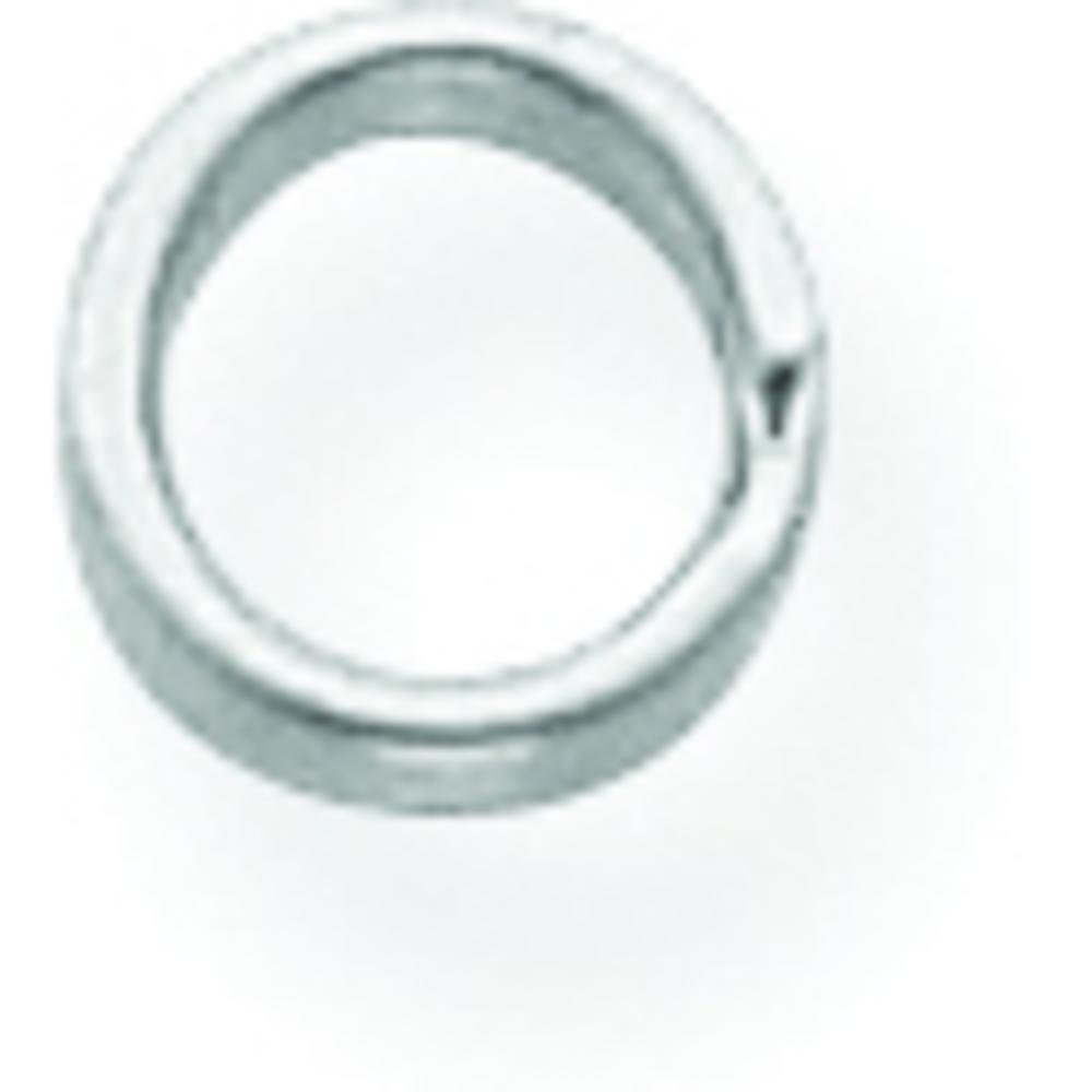 14K White Gold Split Ring by FindingKing