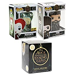 Funko Alice in Wonderland Figures Pop! Through the Looking Glass Movie Vinyl Set Exclusive Iracebeth 185 & Time 184 + Blind Box Mystery Minis