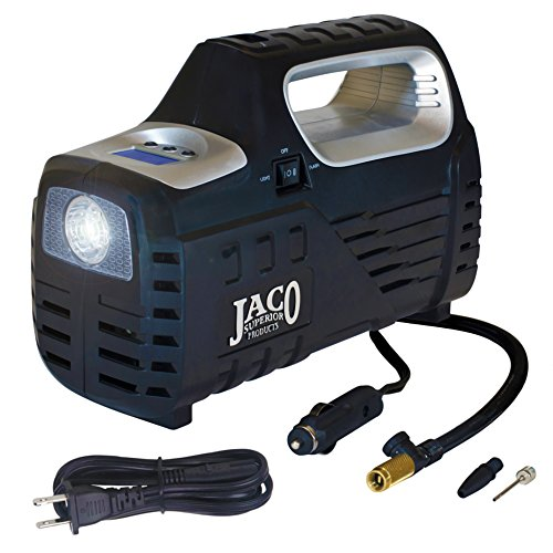 JACO SmartPro 2.0 AC/DC Digital Tire Inflator Pump - Advanced 12V Portable Air Compressor - 100 PSI (Superior Car)