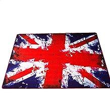 LELVA British Style Retro Fashion to Do the Old Rug, Rug British Flag, Union Jack Mats, Oversized Living Room Bedroom Rug