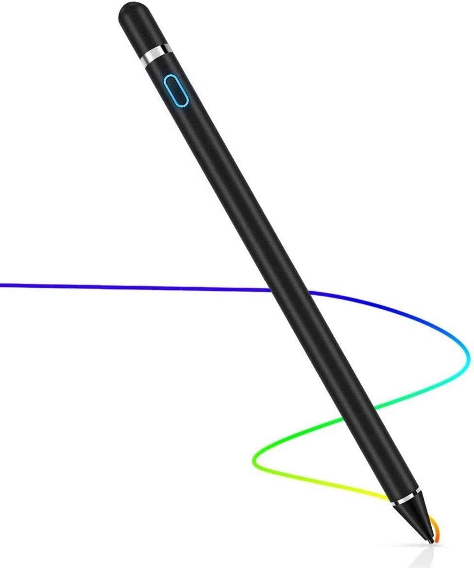 Stylus Pen for Touch Screens, Digital Pen Active Pencil Fine Point Compatible with iPhone iPad and Other Tablets (Black)