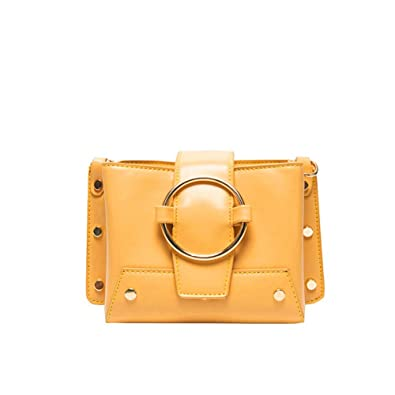 90582649f9 Amazon.com: Fashion temperament wild lady bag Customized bag female 2019  summer new wild fashion bright face western style texture small messenger  bag: ...