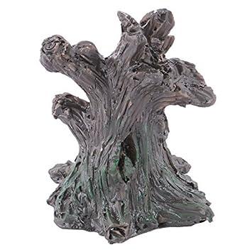 eDealMax Resina Family Office en huecos de árboles Diseño DIY Mesa de escritorio paisaje de la