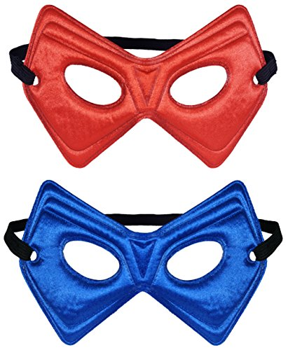 Little Pretends Reversible Hero Mask (Red/Royal) (Spiderman Reversible Costume)