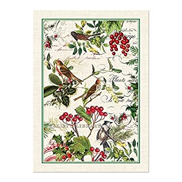 Michel Design Works Winteru0027s Tale Cotton Kitchen Towel, Green