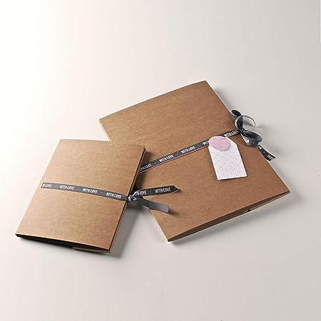 Selfpackaging Carpeta de cartón para Fotos y CDs. Haz Que Regalar Momentos Sea Algo único - Pack de 50 Unidades - M: Amazon.es: Hogar