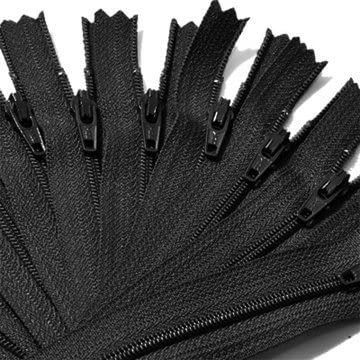 2 Zippers // Pack 18\ Assorted Unique Invisible Heavy Duty Zipper YKK Closed End ~ Black and White