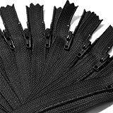 """7"""" Zipper YKK #3 Skirt & Dress ~ 580 Black (12 Zippers / Pack)"""