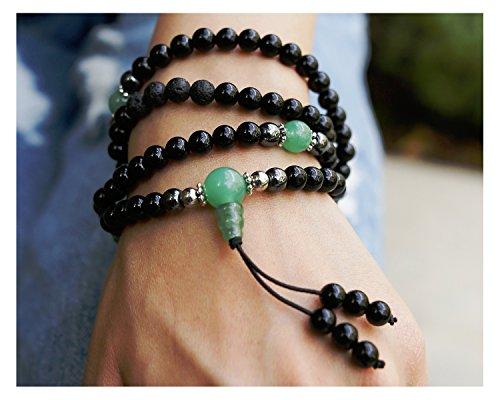 Buddhist Prayer Beads • Tibetan Mala Necklace • Healing Stones Bracelet • Chakra Jewelry • Onyx (Necklaces Bracelets)