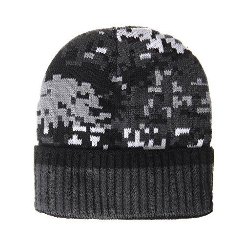 de Military DW5517 Hat Negro Lining Slouchy WITHMOONS Fleece Gorros Punto Beanie Camouflage O75Hw7Tqxg