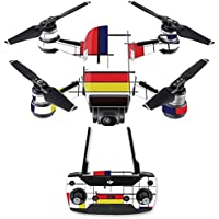 Skin for DJI Spark Mini Drone Combo - Deco  MightySkins Protective, Durable, and Unique Vinyl Decal wrap cover   Easy To Apply, Remove, and Change Styles   Made in the USA