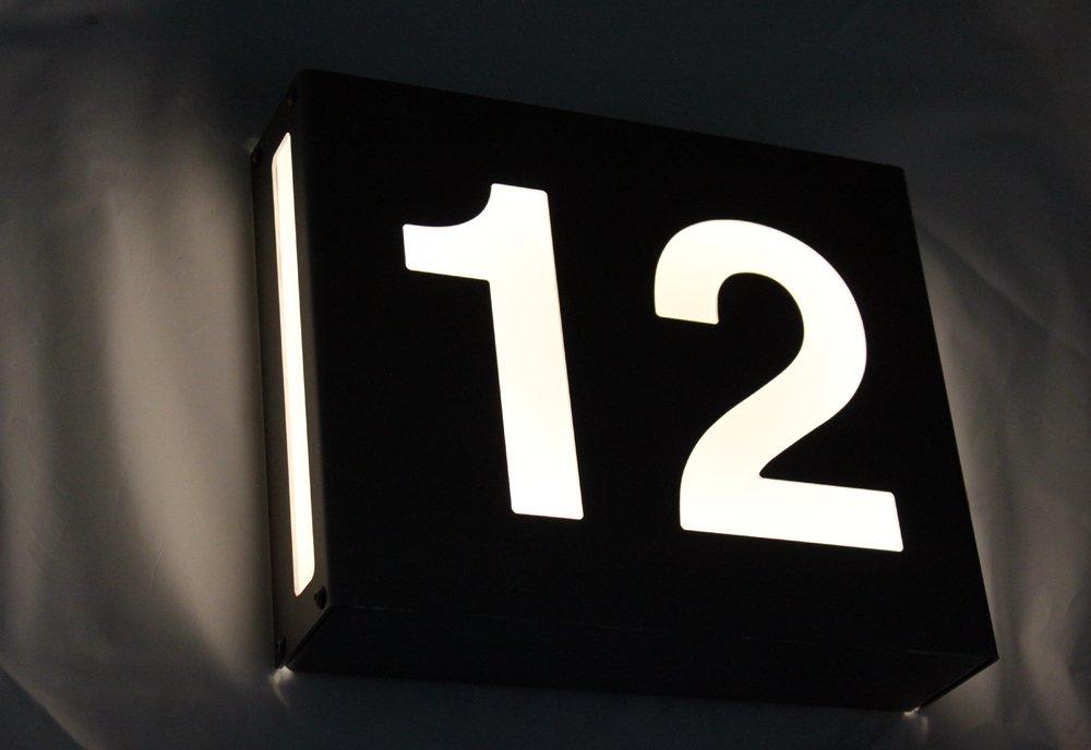 Hausnummer Beleuchtet thorwa moderne beleuchtete design edelstahl hausnummer