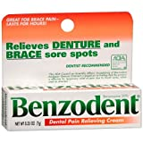 Benzodent Dental Pain Relieving Cream 0.25 oz (Pack of 6)