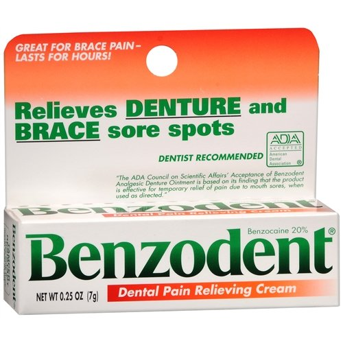 Benzodent Denture Pain Relieving Cream - 0.25 Oz, 6 Pack