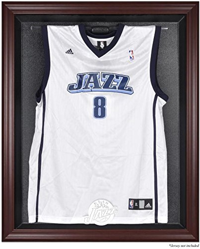 Utah Jazz Mahogany Finished Logo Jersey Display Case by Sports Memorabilia