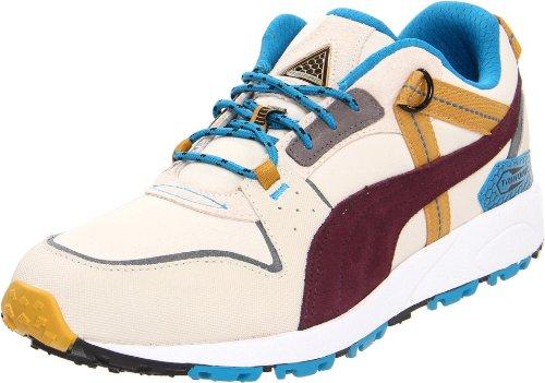 PUMA Trinomic Trail Lo Sneaker, Birch/Tile/Grey/Wine, 12 US/13.5 D US