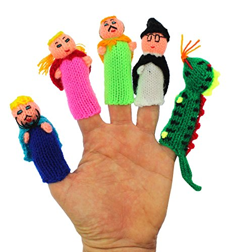 ThumbThings Handmade Finger Puppets King, Princess, Princ...