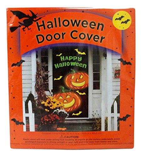 MGPS Halloween Door Cover 30 x 72 Happy Jack O'Lantern -