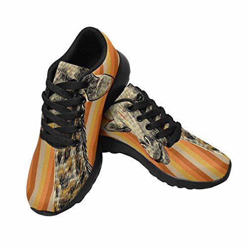 Interessante Womens Jogging Running Sneaker Leggero Go Easy Walking Comfort Sportivo Scarpe Da Ginnastica Schizzo Della Testa Di Una Giraffa Multi 1