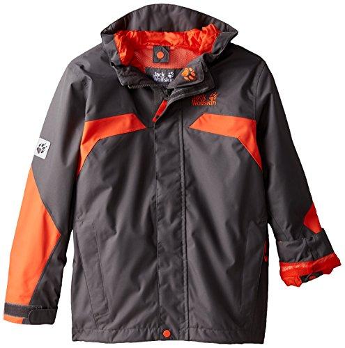 Price comparison product image Jack Wolfskin Boy's Topaz Texapore Jacket,  Dark Steel,  128