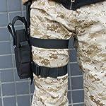 AGPTEK Etui à Pistolet Holster De Cuisse Pistolet Jambe Droite pour Armée Tactique en Nylon Noir et Réglable 8