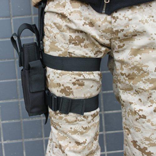 AGPTEK Etui à Pistolet Holster De Cuisse Pistolet Jambe Droite pour Armée Tactique en Nylon Noir et Réglable 3