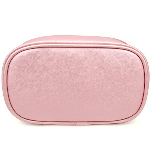 Cosmetic Bag,365park Travel Cosmetics MakeUp Case Organizer Bag with Brush Holder(Z005/Pink) by 365park (Image #6)