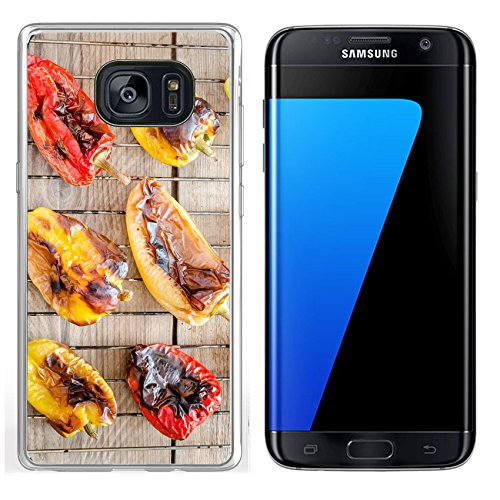 Luxlady Samsung Galaxy S7 Edge Clear case Soft TPU Rubber Silicone IMAGE ID 31678188 grilled bell peppers