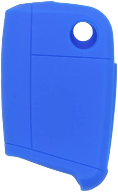 SEGADEN Silicone Cover Protector Case Skin Jacket Compatible with VOLKSWAGEN 3 Button Flip Remote Key Fob CV9803 Light Blue
