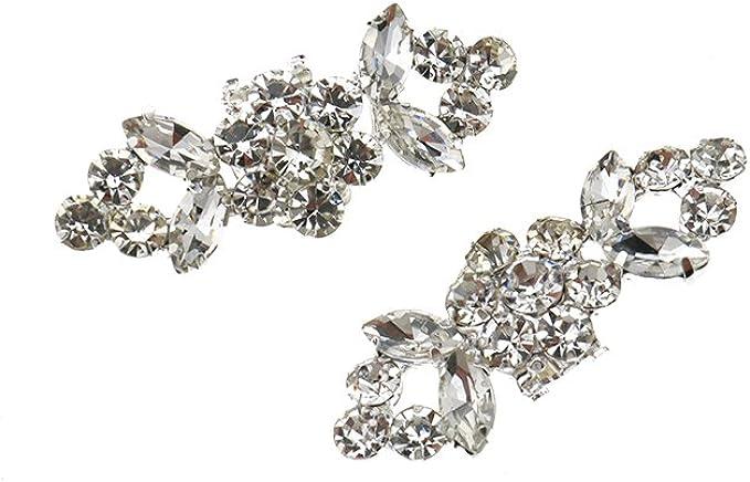 freneci Clips de Zapatos Decorativos para Mujer joyer/ía Adornos de Cristal encantos Hebilla de Zapatos Accesorios de Banquete de Boda