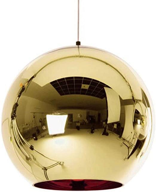 Youzha Globe Pendant Lights Cuivre En Verre Mirror Ball Suspension