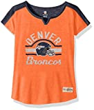 "NFL Girls 7-16 ""Tribute"" Football Tee -Orange-XL(16), Denver Broncos"