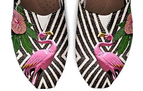 Toms Style Flamingo Shoes, Womens Canvas Shoes, Girls Slip On Shoes, Womens Casual Shoes, Flamingo Theme Shoes ()