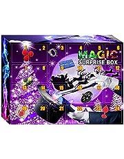 PROKTH 24DAYS Adventskalender met aftelkalender, magische box, speelgoedset, 2021 kerstadventskalender, speelgoed, kerstmis, magische box, verrassing, cadeaus voor Kerstmis
