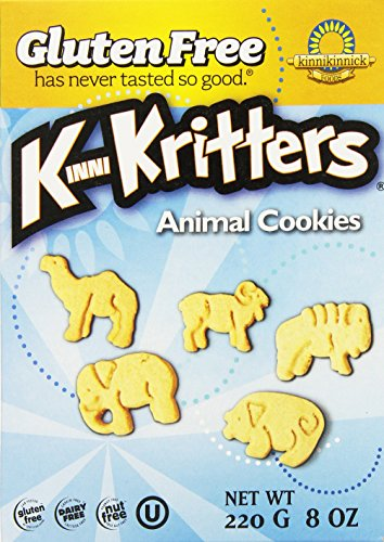 Kinnikinnick Gluten Free Animal Cookies, 8 Ounce (Pack of 6) (Vanilla Soy Cookies)