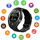 SEPVER Smart Watch SN05 Round Bluetooth Smartwatch with SIM Card Slot Compatible with Samsung LG Sony HTC HUAWEI Google Xiaomi Android Smart Phones for Women Men Kids Boys Girls (Black)