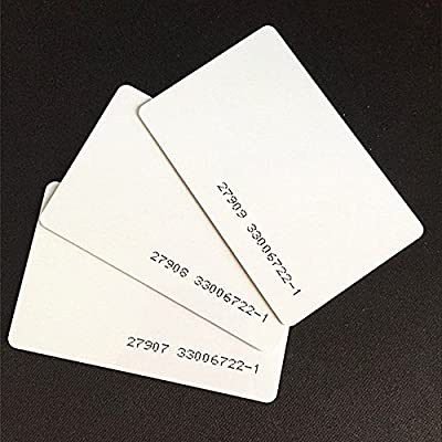 Image of 100pcs 26 Bit Proximity Cards Weigand Prox Blank Printable Swipe Cards Compatable with ISOProx 1386 1326 H10301 Format Readers. Works with The vast Majority of Access Control Systems Access-Control Keypads