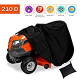 Ationgle Riding Lawn Mower Cover - Large Lawn Mower Cover Waterproof Heavy Duty 210D Polyester Oxford Lawn Mower Storage Shed Craftsman Lawn Mower Bag Replacement (72Lx43Wx46H)
