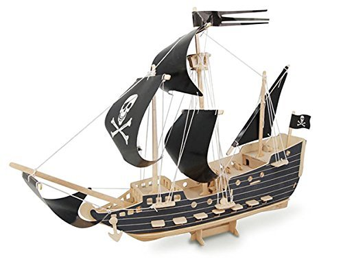 ULT-unite SEA-LAND 3-D Wooden Puzzle (Pirate (Wooden Pirate Ship)