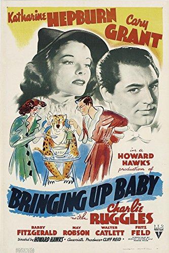 Bringing Up Baby Movie Poster 1938 Cary Grant Katharine Hepburn Hollywood