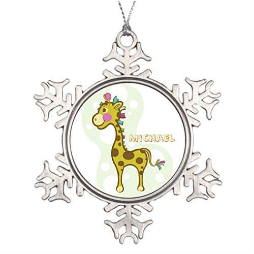 Tree Branch Decoration Wally the Giraffe Character House Snowflake Ornaments Julie Farrell