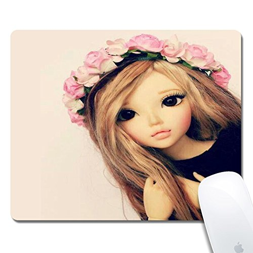 Computer Doll Rectangle Mouse Pad (9.4x7.8 Inch), Printed Rubber Desk Accessories Mouse (Rectangle Table Dolly)