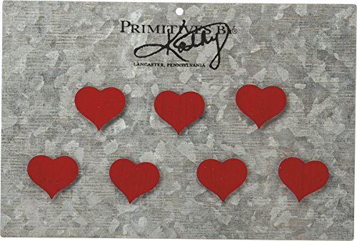 Heart Magnet - Red Heart Magnet Set Primitives by Kathy