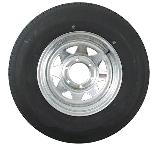 eCustomRim Trailer Tire On Rim ST225/75D15 H78-15 225/75-15 6 Lug Wheel Galvanized Spoke
