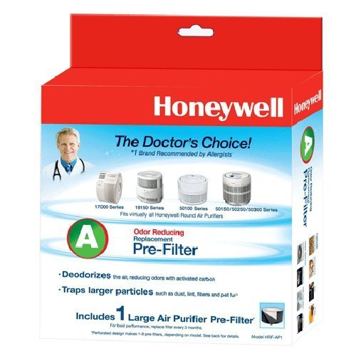 4 Away Bundle of Honeywell Filter A Universal Carbon Pre-filter, HRF-AP1 (Replaces 38002)