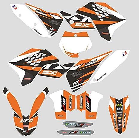 Jfg Racing Benutzerdefinierte Motorrad Komplettkleber Aufkleber Aufkleber Grafik Kit Für 2007 2010 125 144 150 250 450 505 Sx Sxf Sx F Küche Haushalt