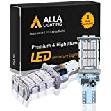 Alla Lighting 912 921 CANBUS LED Reverse Light Bulb Xtremely Super Bright 2600Lm 4014 48-SMD T15 906 W16W 921 LED Bulbs Car RV Cargo Third Brake Stop Back-up Lights Replacement, Pure Red