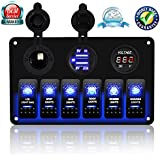 amazon com rocker switches electrical equipment sports outdoors rh amazon com Boat Light Switch Wiring Ranger Boat Wiring Diagram