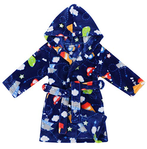 Verabella Boys Girls' Fleece Printed Hooded Beach Cover up Pool wrap,Vehicle,S